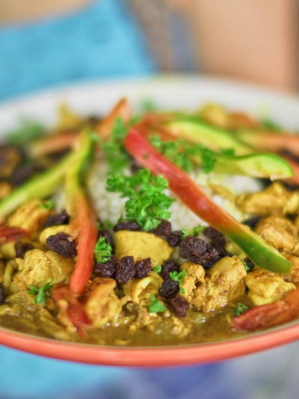 Seafood Garam Masala Bell Pepper Curry on Adlai Bed